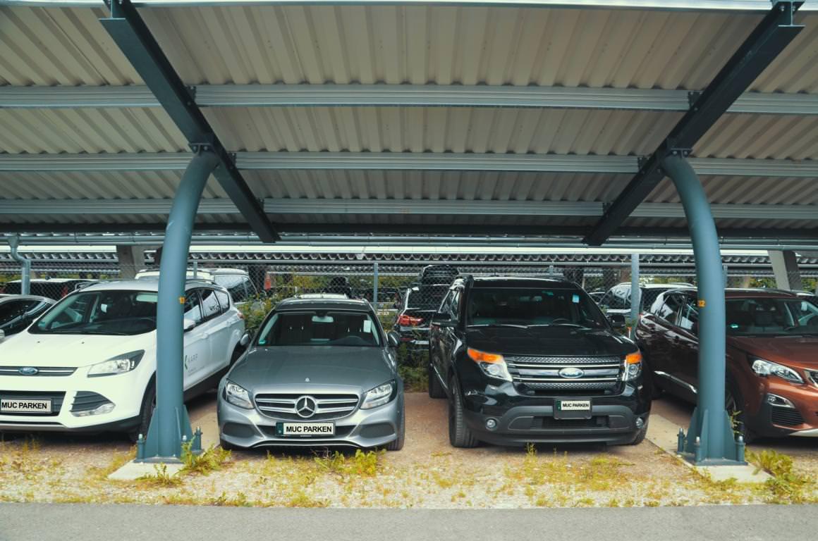 parkplatz flughafen m nchen carport 400 stellpl tze. Black Bedroom Furniture Sets. Home Design Ideas